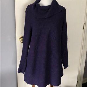Beautiful purple turtleneck tunic